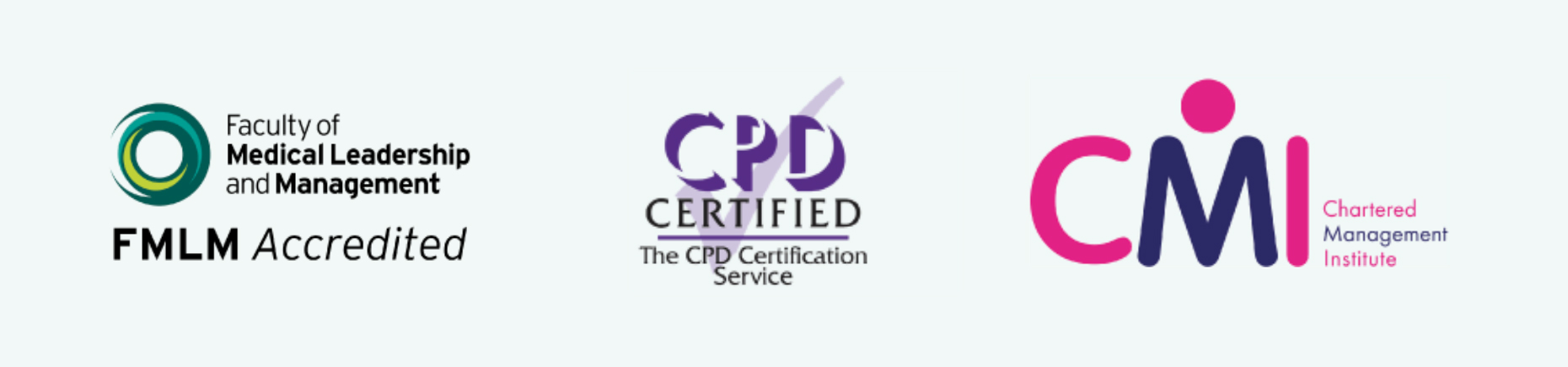 CPD Certified, FMLM Accredited, CMI
