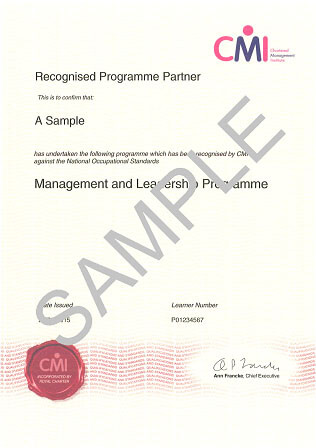 Generation Leader CMI Certificate of Recognition